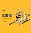 building service isometric web banner vector image vector image