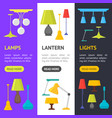 cartoon home illumination lamp banner vecrtical vector image vector image