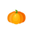 cartoon pumpkin halloween thanksgiving symbol vector image vector image
