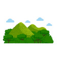chocolate hills in the philippines vector image