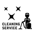 cleaning service symbol vector image vector image