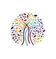 colorful silhouette tree logo design graphics vector image vector image