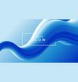 creative design 3d flow shape liquid wave blue vector image vector image