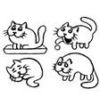 cute cats emoticons set isolated vector image