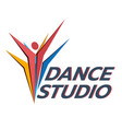 dance studio logo dancer logotype vector image vector image