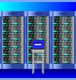 data center server laptop internet network vector image