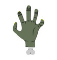 deadmans hand cartoon icon on green background vector image vector image