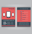 Design business flyers in a flat style vector image vector image