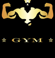 design for gym and fitness vector image vector image