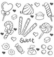 doodle of candy sweet hand draw vector image vector image
