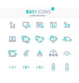 easy icons 49e computer virus vector image