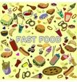 Fast food design line art vector image vector image
