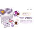 flat design baner template for online shopping vector image