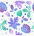 floral background with gradient tropical plants vector image vector image