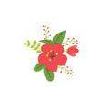 floral nature icon decorative element design vector image