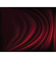 Fragment dark red stage curtain vector image