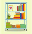 furniture interior shelf home design modern living vector image vector image