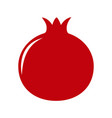 garden pomegranate icon vector image vector image