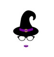 girl in a witch hat and glasses isolated vector image