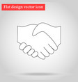 handshake between two people vector image