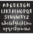 Handwritten script font vector image vector image