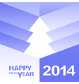 Happy New Year Christmas Tree design vector image