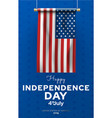 independence day poster national patriotic vector image