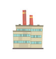 industrial manufactury building vector image vector image