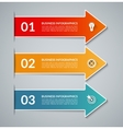 infographic arrows with white border vector image vector image