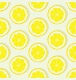 lemon slice seamless pattern vector image vector image