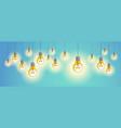 light bulbs shining beautiful realistic ideas vector image