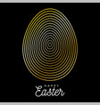 luxury easter gold egg square banner easter big vector image vector image