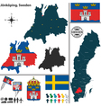 Map of Jonkoping small vector image vector image