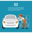 mechanic auto rapair icon graphic vector image