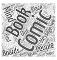Message Boards For Comic Books Word Cloud Concept