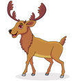Moose cartoon vector image vector image