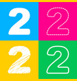 number 2 sign design template elements four vector image vector image