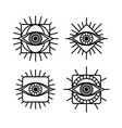 one eye sign symbol logo logotype collection vector image vector image