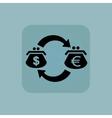 Pale blue dollar-euro exchange icon vector image vector image
