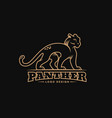 panther logo vector image vector image