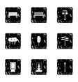 Park icons set grunge style vector image vector image