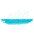 puddle in rain isolated vector image vector image