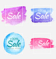 sale final up to 70 off watercolor sign over art vector image vector image