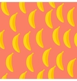 Seamless pattern of bananas with pink background vector image vector image