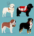 set of dogs rescuers and helpers vector image vector image