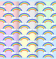 set rainbow cloud seamless pattern abstract on vector image