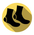 socks sign flat black icon with flat vector image vector image