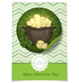 St Patricks Day Pot Of Gold vector image vector image