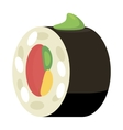 Sushi roll icon cartoon style vector image vector image