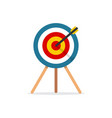 target with arrow standing on a tripod vector image vector image